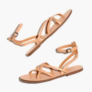 NWT Madewell The Boardwalk Skinny Strap Sandals